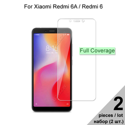 Tempered Glass For Xiaomi Redmi 6 / Redmi 6A Explosion-proof Full Cover Screen Protector Protective Glass For Xiaomi Redmi 6 6A