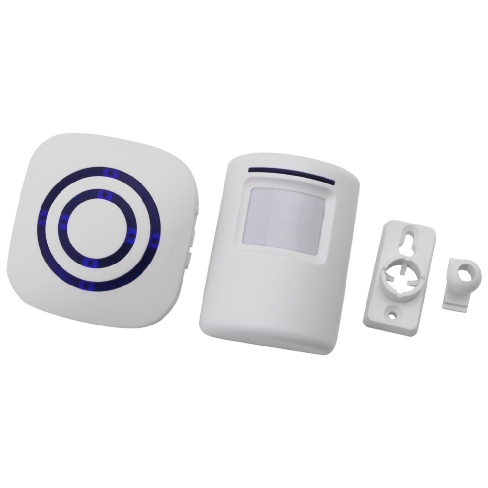 Wireless Infrared Motion Sensor Door Security Bell Alarm Chime EU/US Plug  X6HB