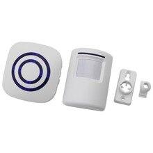 Wireless Infrared Motion Sensor Door Security Bell Alarm Chime EU/US Plug  X6HB