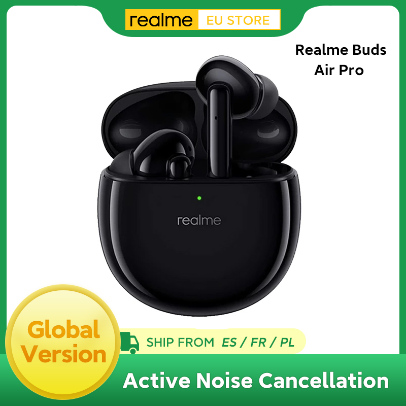 Realme Buds Air Pro ANC ENC Active Noise Cancellation Bluetooth 5.0 headset 10mm Bass Boost Driver Wireless Earphone