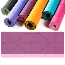 Tasteless non-slip TPE yoga mats Pilates gym exercises sports pads for the bodybuilding salon Fitness with position line