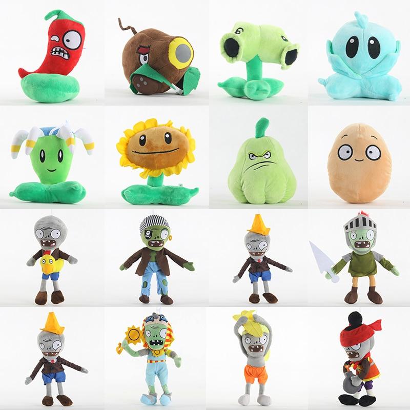 52 Styles Cute Plants Vs Zombies Kids Games Soft Plush Stuffed Toys Dolls Gifts