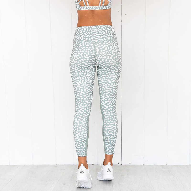 Mulheres Treino Sexy Ginásio Usar roupas de Yoga Define Pontilhada Conjunto Tanque de Roupas Top Leggings Aptidão Execução Sportswear Ternos Do Esporte, ZF277