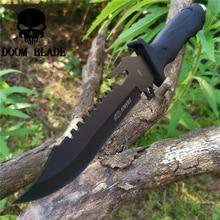 שחור 8CR13MOV פלדה טקטי להב ישר סכין 57HRC סכיני טוב לציד קמפינג הישרדות חיצוני ונשיאה יומיומית