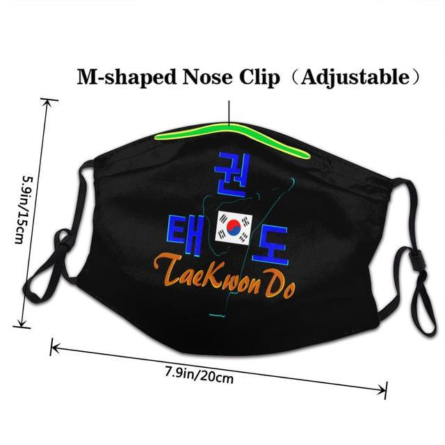 Latest popularity DIY face mask fashion mask for face masks TaeKwonDo Master Korean Martial Art Kids adult men women 1