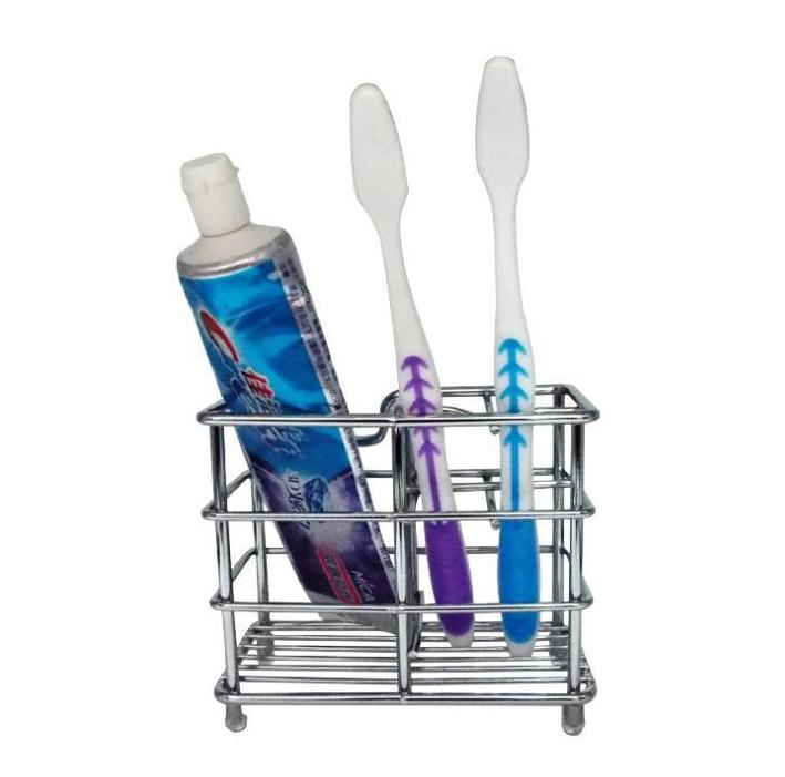 Simple Toothpaste Stand Multi Function Stainless Steel Toothbrush Holders Firm Durable Storage Rack For Bathroom Supplies SN2341 image