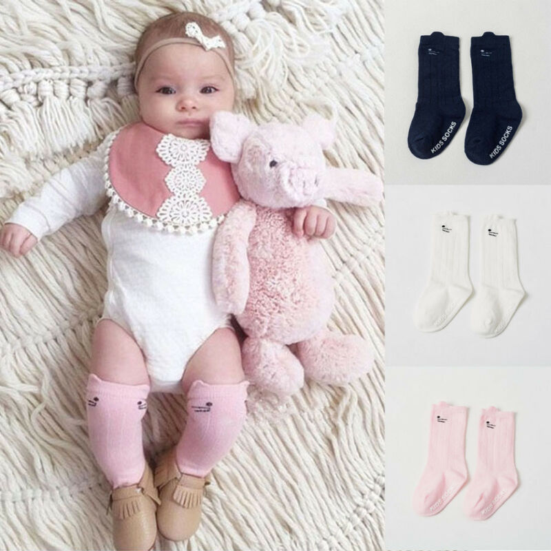 Hot Newborn Toddler Knee High Sock Baby Boy Girl Socks Anti Slip Cute Cat Cotton Warm Soft Socks 0-4yers