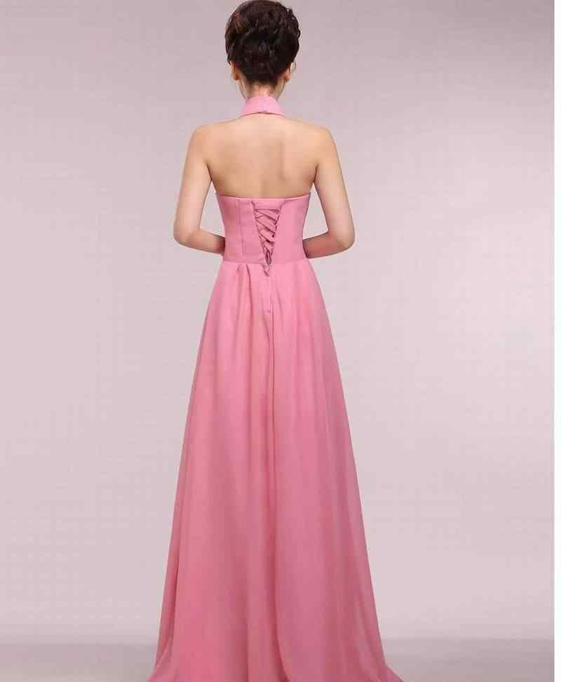 Liberação feminina sexy chiffon halter vestido de noite plus size longo formal vestido de baile de formatura vestidos de festa de noiva