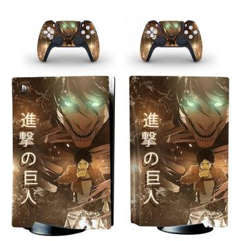 Attack On Titan PS5 Standard Disc Edition Skin Sticker Decal Cover for PlayStation 5 Console & Controller PS5 Skin Sticker Vinyl 1