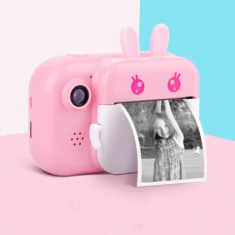 Kids Instant Print Camera Digital Video Camera 1080P HD Children Camera Toys with Thermal Photo Paper For Girl Boy Birthday Gift