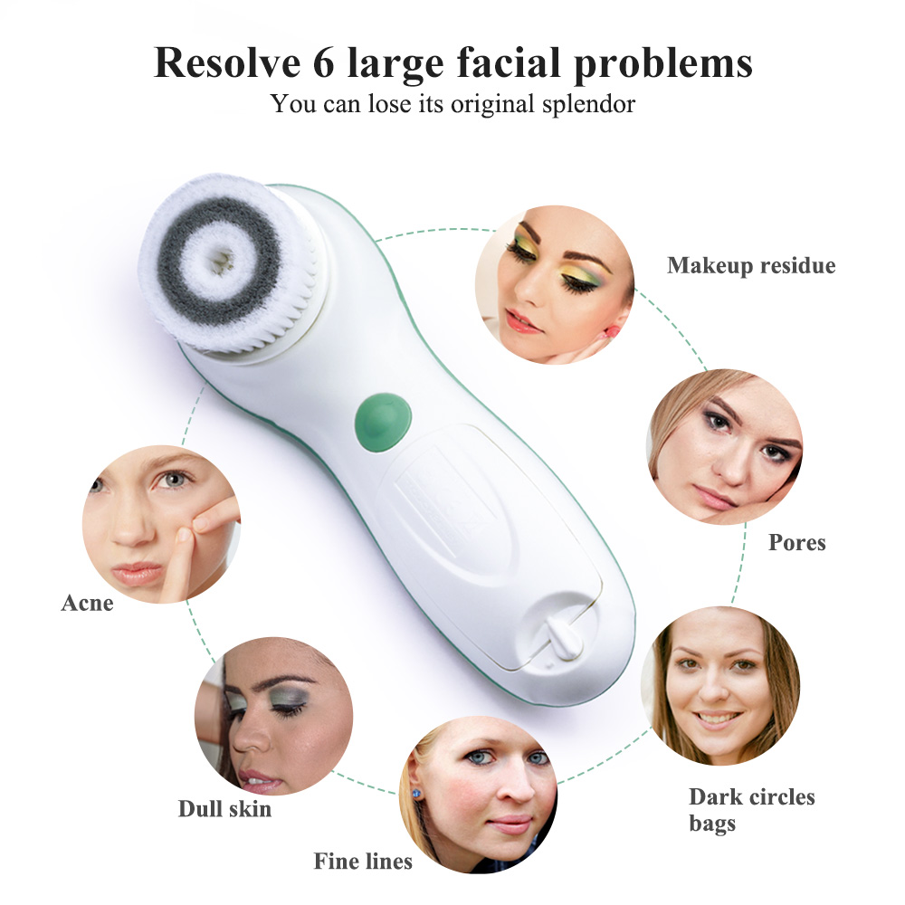 TOUCHBeauty 3 in1 rotating facial cleansing brush,2 speed setting with storage case Face Skin Cleanser&Exfoliator brush TB-0759A 4