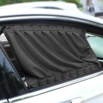 LEEPEE 2pcs/Set Auto Windows Curtain Aluminum Alloy Sun Visor Blinds Cover Car Curtain Side Window Sunshade Curtains 1