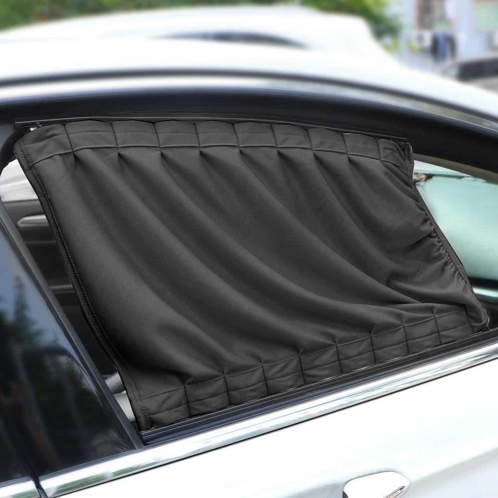 LEEPEE 2 개/대 자동 창 커튼 알루미늄 합금 태양 바이저 블라인드 커버 자동차 커튼 사이드 창 양산 커튼