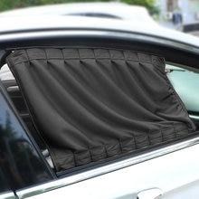 LEEPEE 2 pièces/ensemble Auto fenêtres rideau en alliage d'aluminium pare-soleil stores couverture voiture rideau fenêtre latérale parasol rideaux
