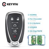 Keyou 4/5-カー用のリモートコントロールキー,カーラジオ用のプログラミングツール,チャシボレーカマロ,精練,433mhz,id46,hyq4ea