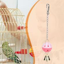 Игрушка для домашних животных, попугай, попугай, Попугайчик, волнистый жевательный подъем, Висячие качели, шарик с колокольчиком игрушки