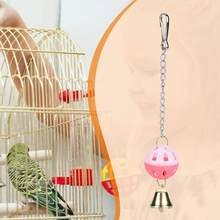 Pet Bird Toy Parrot Parakeet Budgie Bite Chew Climb Hanging Swing Bell Ball Toys(China)
