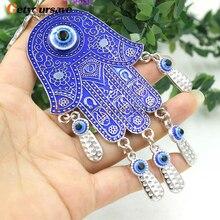 Синий сглаза 3 бабочки амулет защита настенный Декор для дома подарок