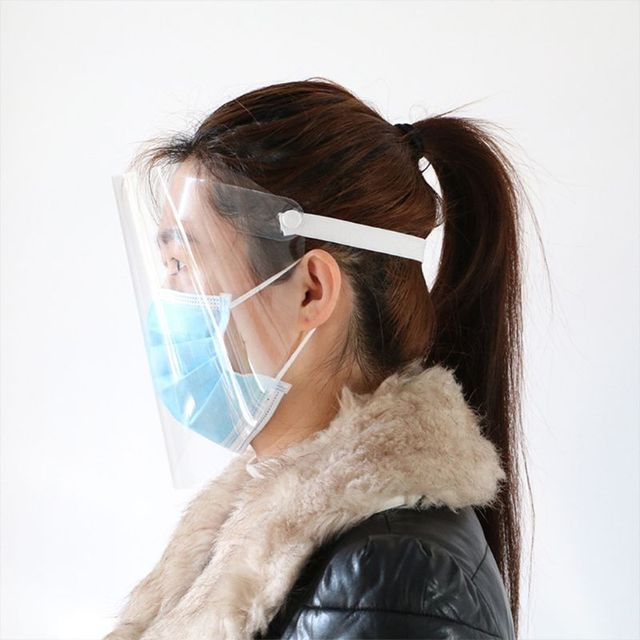Protective Adjustable Anti-saliva Dust-proof Full Face Cover Mask Visor Shield 2