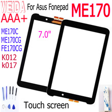 цена на New 7'' For Asus Fonepad 7 Memo Pad 7 ME170C FE170CG ME170 Touch Screen Digitizer for ME170CG k012 K017 Touch Panel Replacement