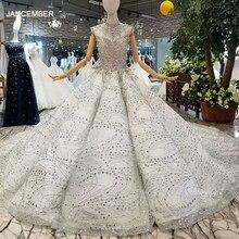 LS014545 Hoàng Gia sáng bóng bầu váy ngủ kèm lấp lánh tay cổ cao đính hạt Dubai Nữ nhân dịp ĐầM Trung Quốc bán buôn