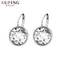 Xuping Fashion Crystals from Swarovski Colorful Earrings With Rhodium Color Plated Charm for Women Jewelry Gift XE2189