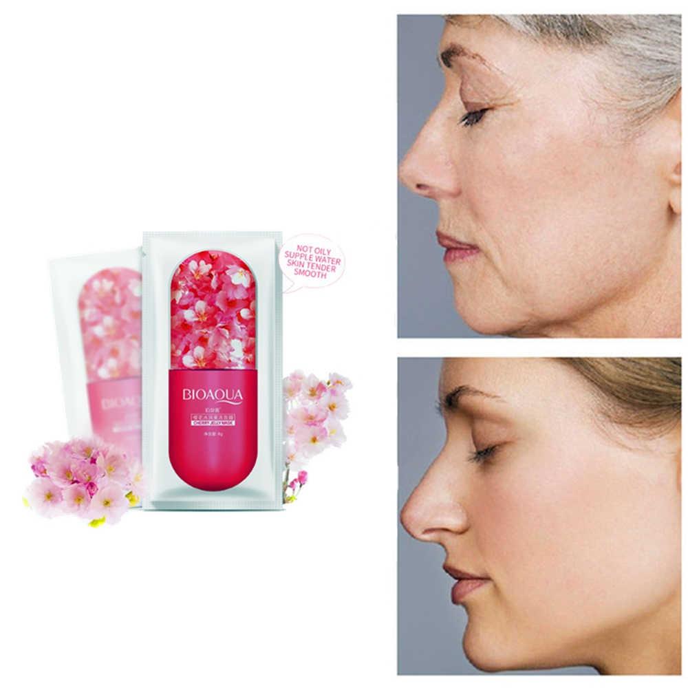 1 Bag Vitamine C Sakura Whitening Maskers Kersenbloesems Hyaluronzuur Gezichtsmasker Remover Sproet Vlekken Anti-Aging Skin zorg