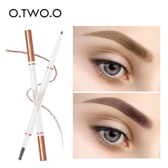 O.TWO.O 3pcs Eyes Makeup Set Ultra Fine 1.5mm Eyebrow Lengthening Mascara Long Lasting Waterproof Eyeliner Cosmetic Kit 4