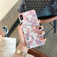 For iPhone 7plus case Retro Cartoon Looney Tunes funny Phone silicone cover for coque 7 6 8 6s Plus X XR xs max
