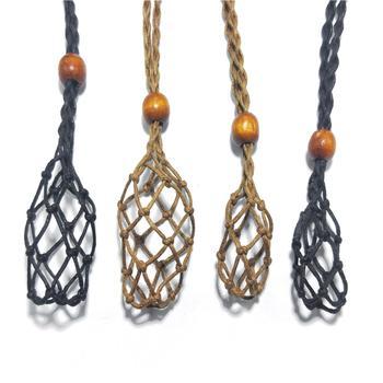 Macrame Stone Holder Necklace