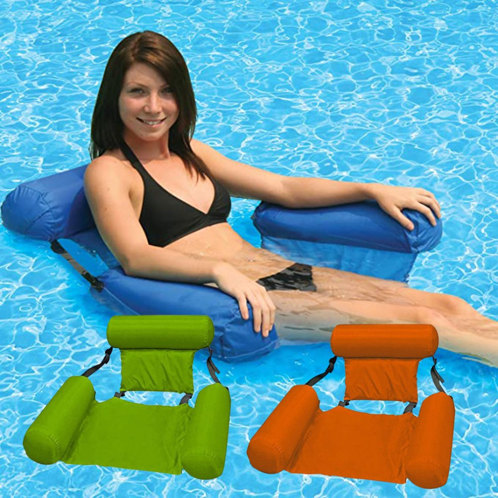 Outdoor Folding Water hammock Recliner Inflatable Floating Swimming Mattress Sea Floating Chair Lounge Chair For Pool Party 1