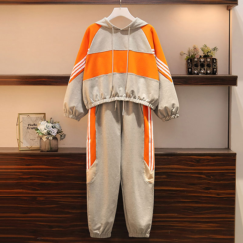 2020 spring New Casual Tracksuit for Women Two Piece Set Hoodies loose Sportswear 2 Pieces Running Sports Suit  large sizes