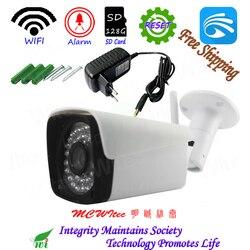 Mini 128G SD Card Reset kamera WIFI HD 1080P kamera bezpieczeństwa ONVIF P2P chmura IR CCTV RTSP wodoodporny humanoidalny Alarm ruchu