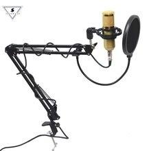 Profesjonalny mikrofon kondensujący bm 800 Audio 3.5mm przewodowy BM800 Studio nagrywanie głosu KTV Karaoke stojak na komputer
