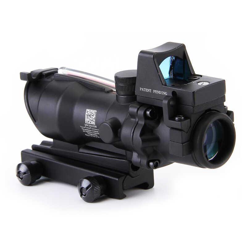 تكتيكي أكو 4x32 ريد دوت الألياف البصرية الصيد نطاقات البصر Riflescope الماضي 20 مللي متر السكك الحديدية جبل شبكاني Airsoft اصطدام البصر