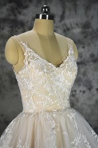 Image 5 - Royeememo Luxurious V neckline lace ball gown wedding dress 2020 bride dress