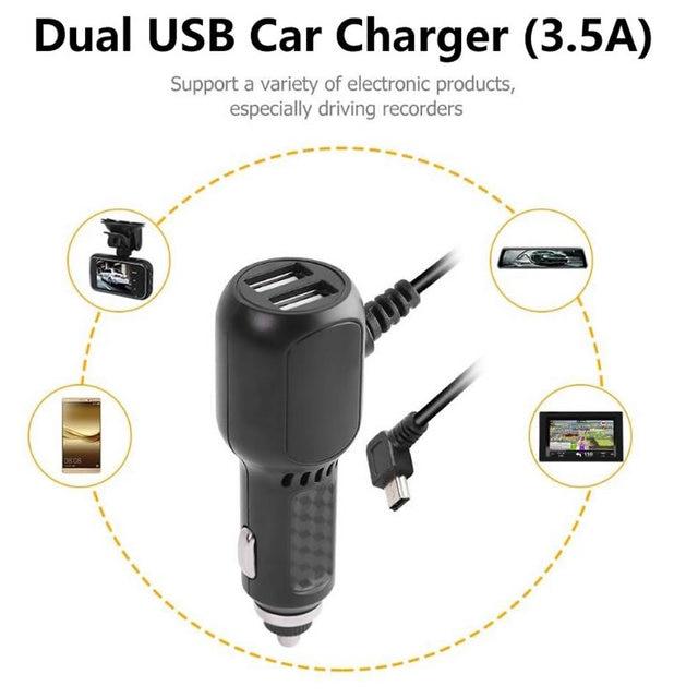 Auto Truck Ciga Licht Micro Mini Dual Usb Charger Adapter Kabel Omvormer Converter Voor Gps Tablet Telefoon Pda Dvr recorder