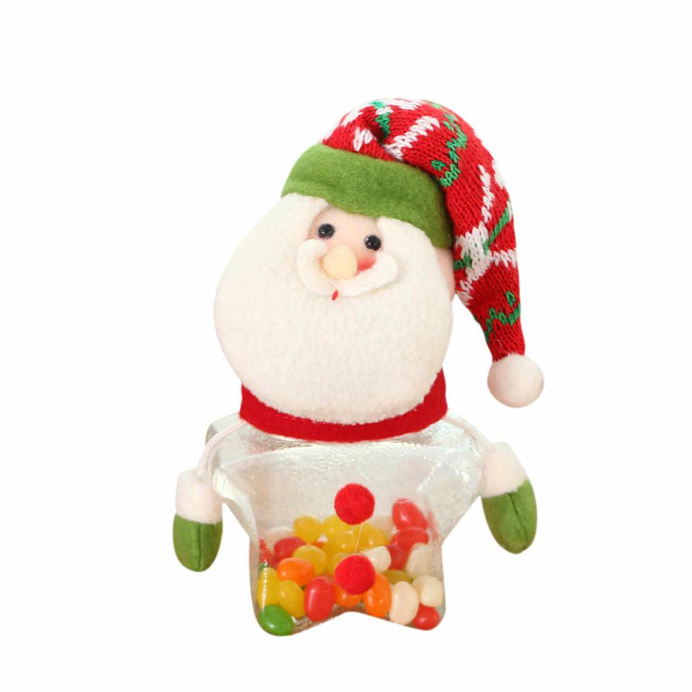 عيد الميلاد برطمان للحلوى زجاجة تخزين الأصدقاء الطفل طفل الفانيلا الحلو هدايا ثلج الديكور الزفاف حزب عيد الميلاد 19AUG27