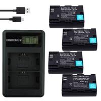 4Pcs LPE6 LP E6 Batterie LP E6 E6N + LCD USB Dual Ladegerät für Canon EOS 60D 70D 5D Mark II 5D Mark III 5D Mark IV digital kamera Digitale Batterien    -