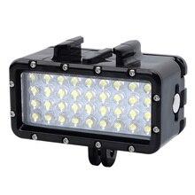 цены New waterproof LED light underwater light diving for GoPro Hero7 6 5 3 4 Xiaomi Yi Mijia 4K SJCAM Dji Osmo Action Accessories