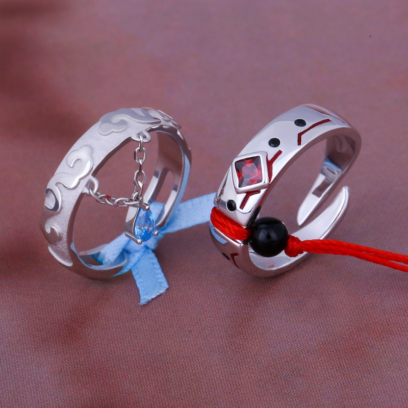 Untamed аниме гроссмейстер демоническим выращивания MDZS Косплей кольцо S925 пар стерлингового серебра модное кольцо на палец, ювелирное изделие, ...