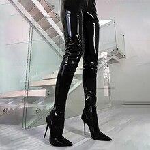 LAIGZEM – bottes extensibles à entrejambe et talons hauts pour femmes, chaussures de grande taille 43 45 47