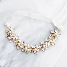 Женские свадебные эластичные подвязки для ног, пояс, имитация Кристальные украшения из цветов, стразы, бисер, Свадебные вечерние, для выпускного вечера, эластичное кольцо на бедро