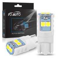 2pcs W5W T10 194 168 Ceramic 3030SMD Car Led Bulb LED Car Wedge Parking Light Auto Wedge Turn Side Bulbs License Plate Lamp 12V
