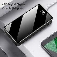 18650 전원 은행 30000 mah 빠른 충전기 led 2 usb 휴대용 외부 배터리 팩 배터리 powerbank 삼성 xiaomi 전화