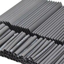 127 pçs/set calor psiquiatra sleeving tubo variedade kit cabo de isolamento elétrico fio envoltório cabo à prova dwaterproof água