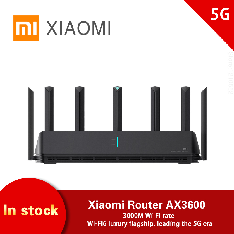 Xiaomi AX3600 AIoT Router Wifi6 Dual-Band 2976Mbs Gigabit Rate WPA3 Security Encryption Qualcomm A53 External Signal Amplifier