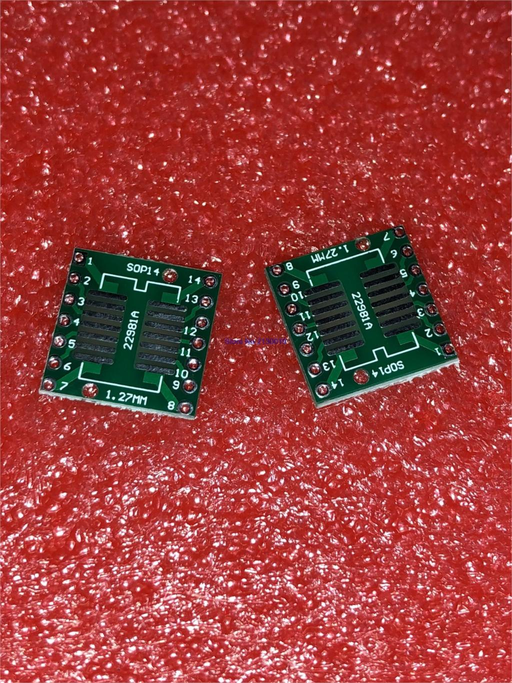 10pcs/lot TSSOP14 SSOP14 SOP14 To DIP14 Transfer Board DIP Pin Board Pitch Adapter In Stock