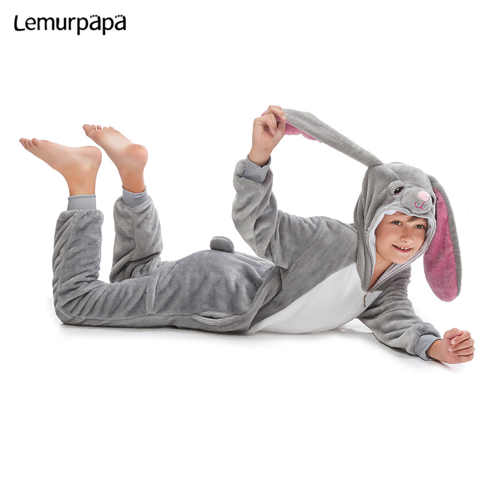 MashiMaro Kids Kigurumis Sleepwear Onesie Cartoon Cute Rabbit Homewear Pajama Girl Boy Party Cosplay Jumpsuit Child Costume