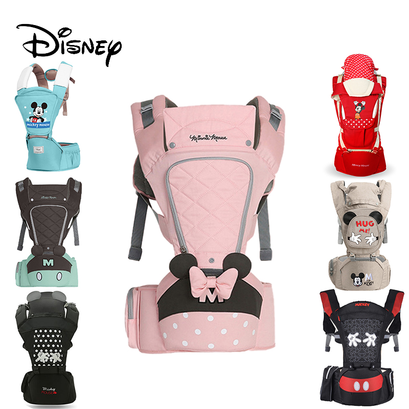 Disney Ergonomic Baby Carrier Backpack Infant Sling Toddler Waist Wrap Carrier Baby Holder Kangaroo Hipsit Minnie 360 Shoulder